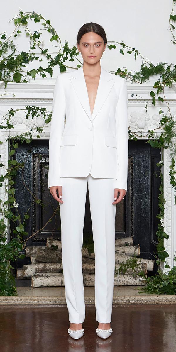 trendy wedding dresses jumpsuit simple for 2018 monique lhuillier