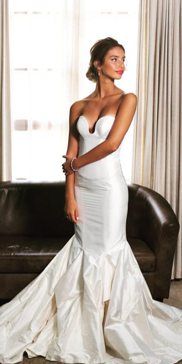 trendy wedding dresses mermaid sweetheart simple zahavitt shuba