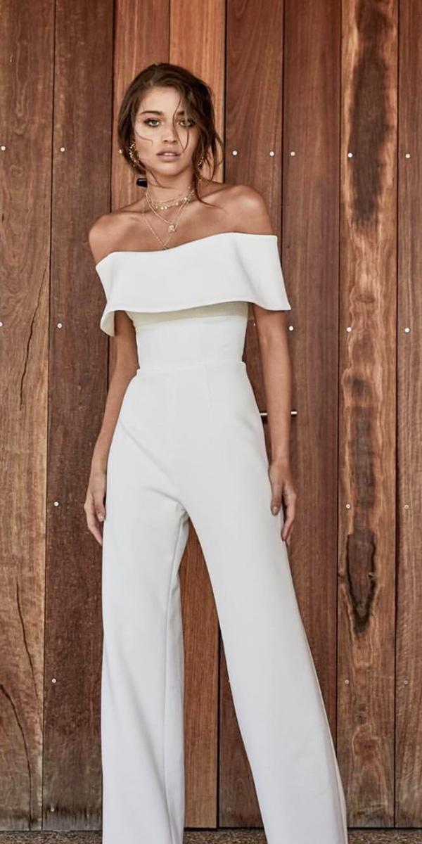 trendy wedding dresses punsuit straight neckline simple chosen by one day