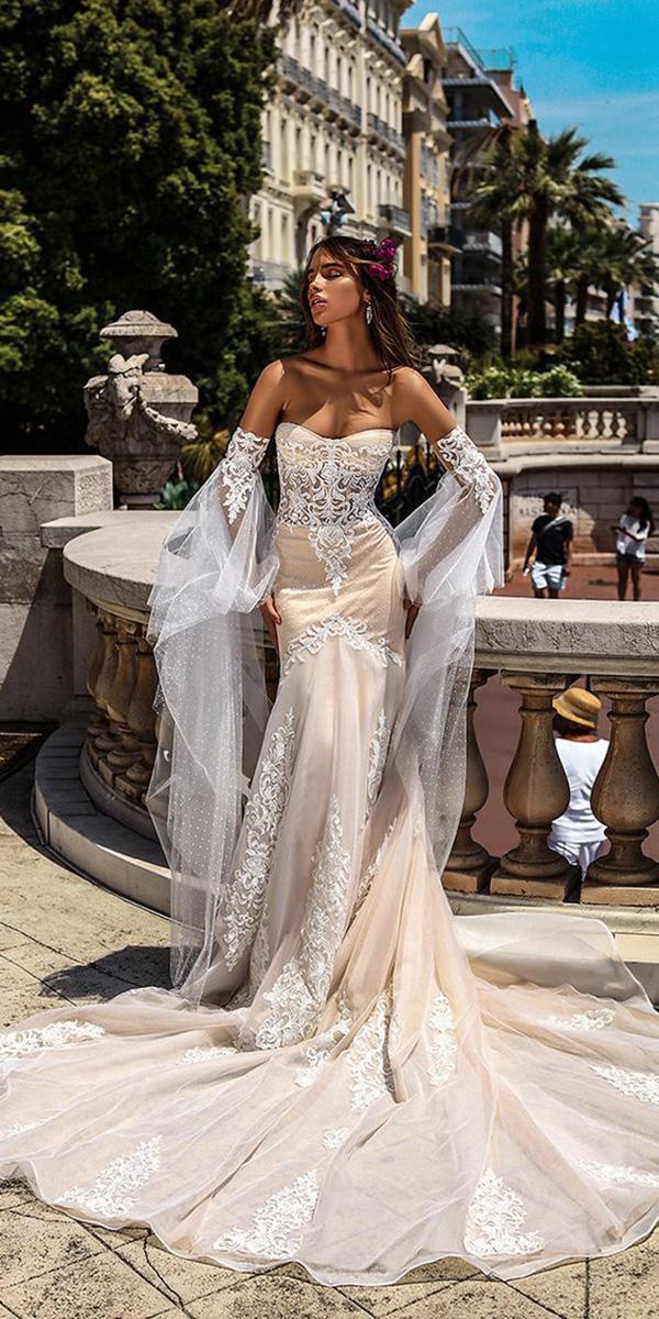 trendy wedding dresses sheath detached sleeves victoria soprano
