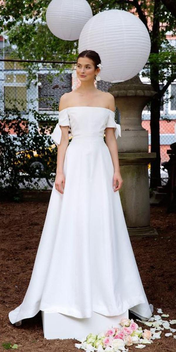 trendy wedding dresses straight across 2018 lela rose