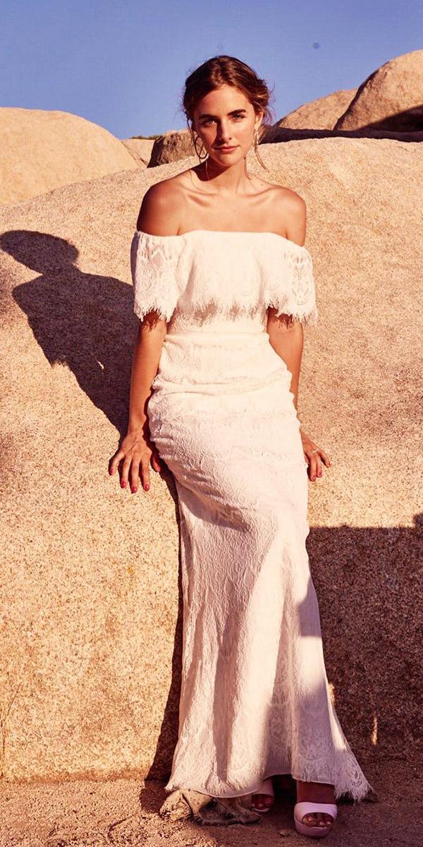 trendy wedding dresses straight across boho beach davids bridal