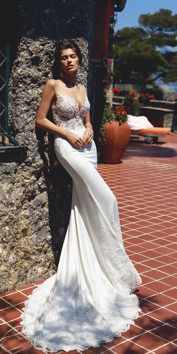 viero wedding dresses mermaid illusion neckline beaded lace details