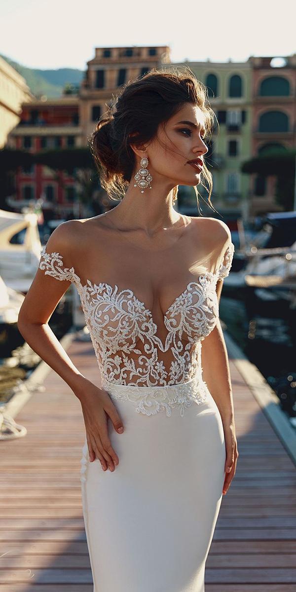 viero wedding dresses off the shoulder sweetheart top details