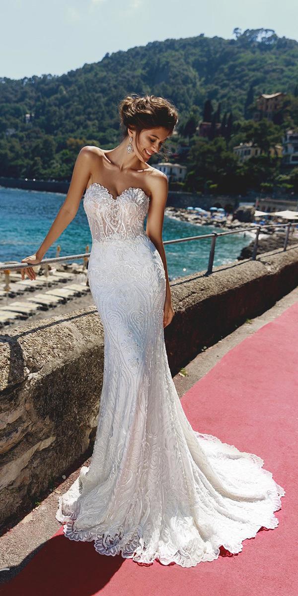 viero wedding dresses trumpet sweetheart full lace
