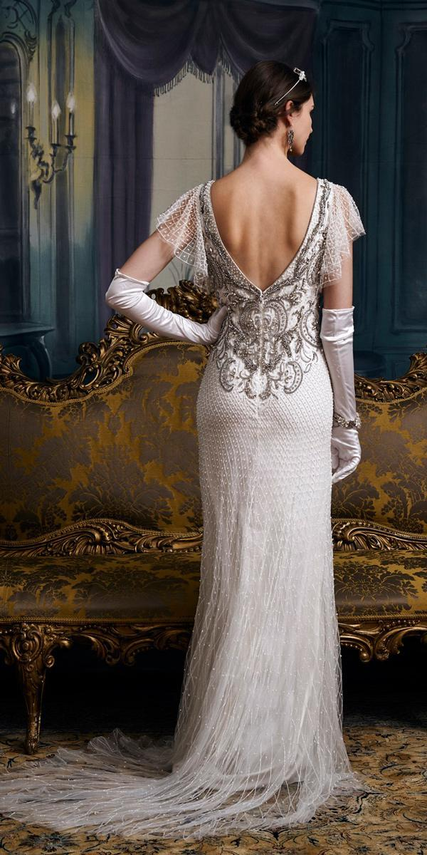 vintage wedding dresses 1920s sheath open back embroidered bodice eliza jane howell