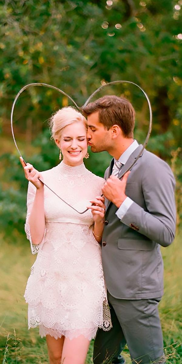 vintage wedding dresses 1920s short high neckline lace with sleeves elizabeth messina