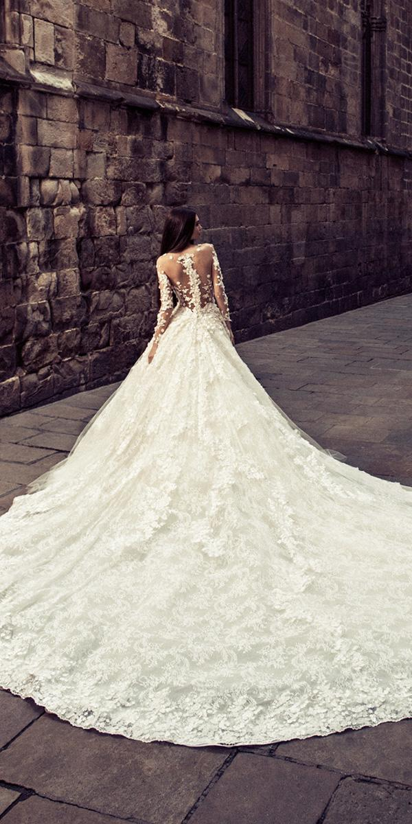 a line julia long sleeves illusion back lace wedding dresses 2018 julia kontogruni