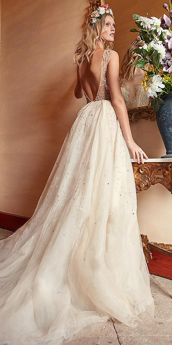galia lahav wedding dresses ball gown v back silver beads embroidered 2018
