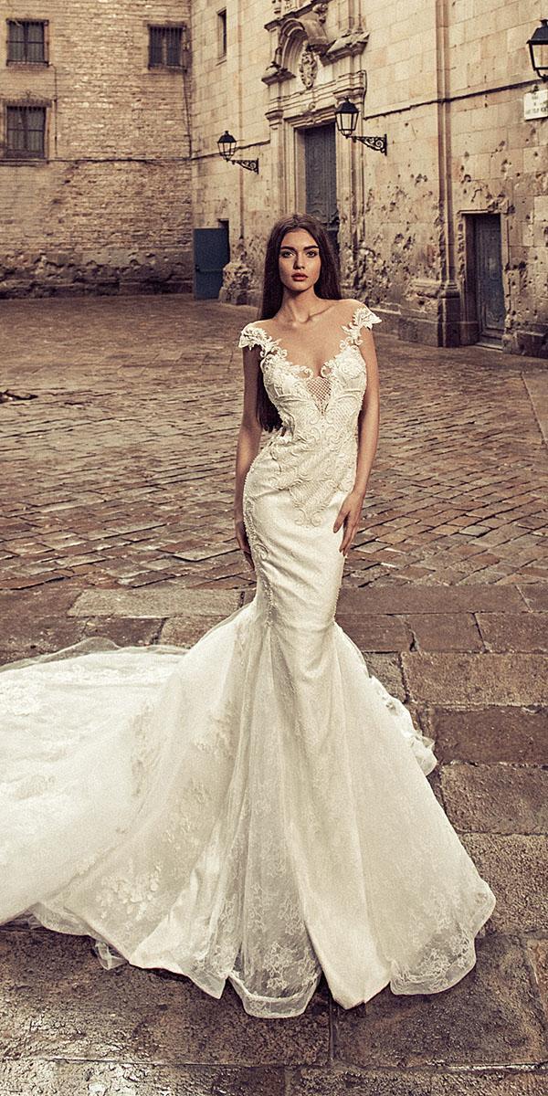 julia kontogruni wedding dresses mermaid off the shoulder lace with train 2018