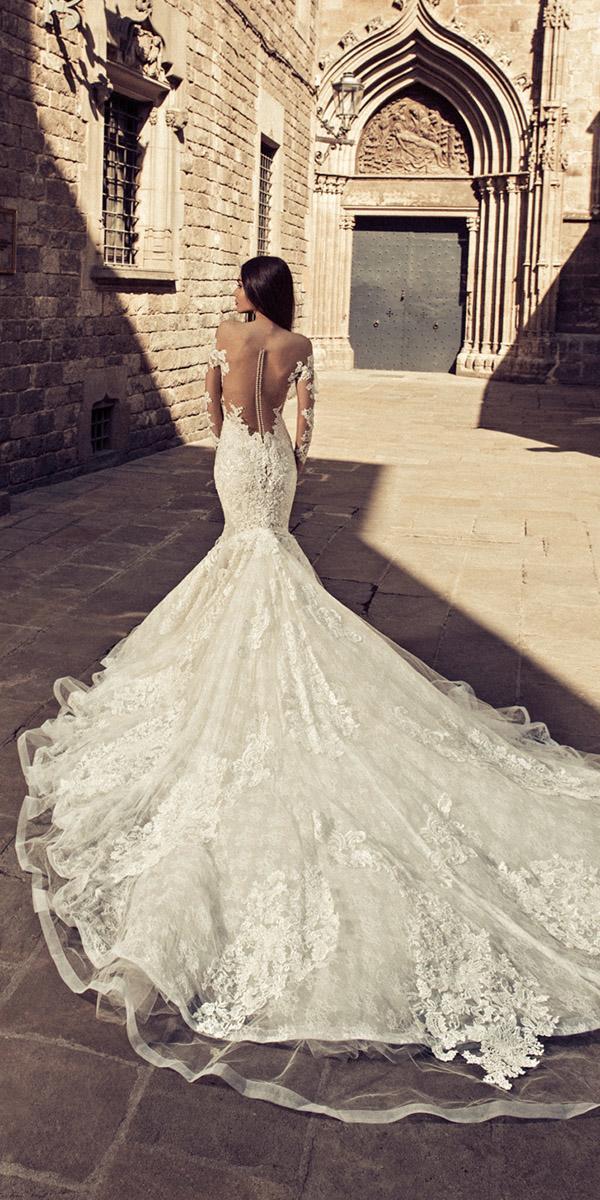 julia kontogruni wedding dresses mermaid with illusion back floral lace train