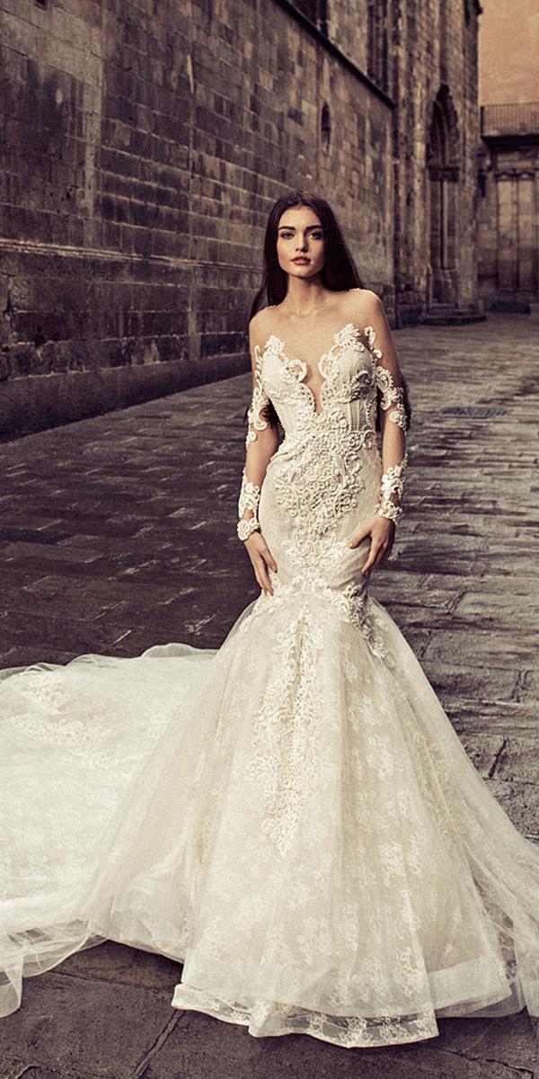 julia kontogruni wedding dresses mermaid with illusion long sleeves full lace 2018