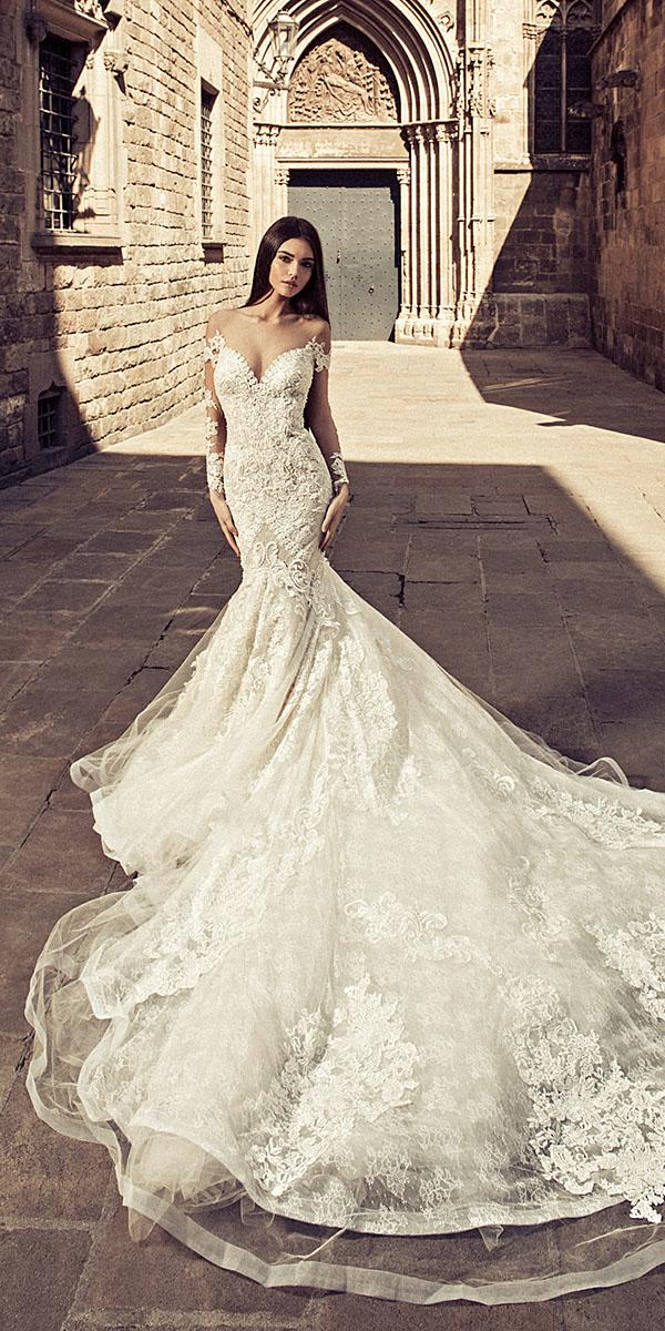 julia kontogruni wedding dresses mermaid with long sleeves strapless with train
