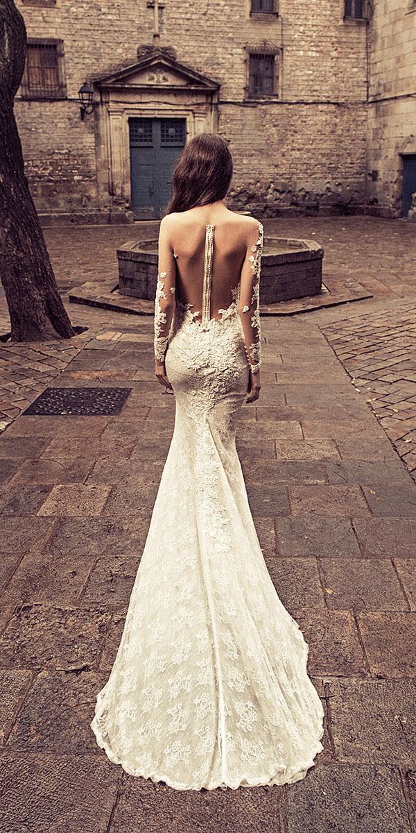 julia kontogruni wedding dresses trumpet illusion back tattoo effect sexy