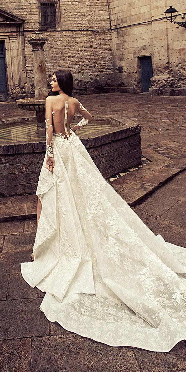 julia kontogruni wedding dresses with illusion back overskirt lace 2018