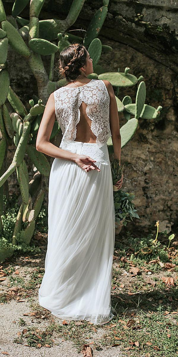 lavetis wedding dresses sheath open back lace vintage 2018