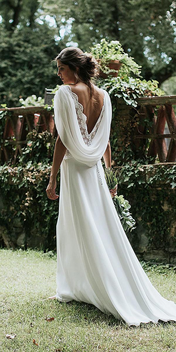 lavetis wedding dresses sheath v back chiffon casual 2018