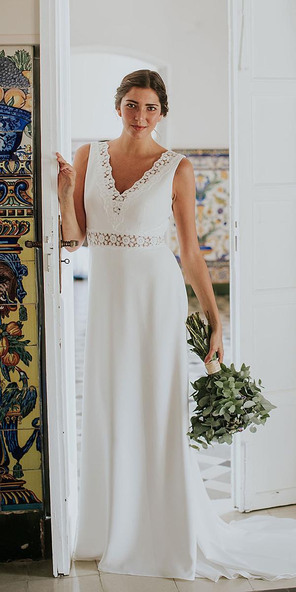 lavetis wedding dresses sheath v neckline elegant 2018