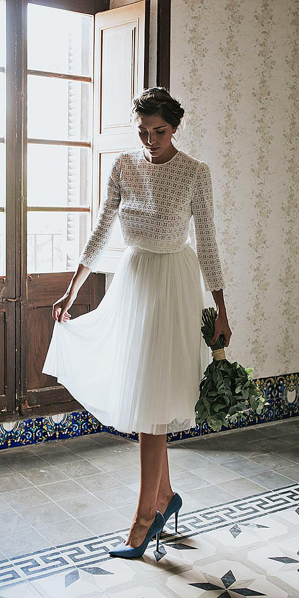lavetis wedding dresses tea length vintage top 2018