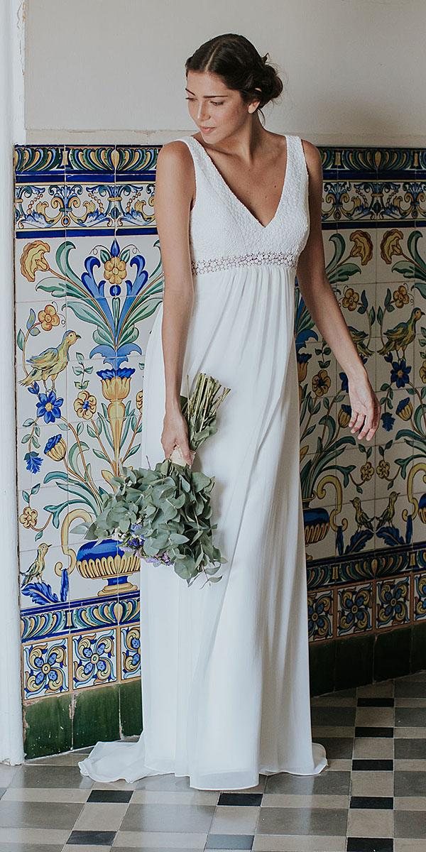 lavetis wedding dresses v neckline simple romantic