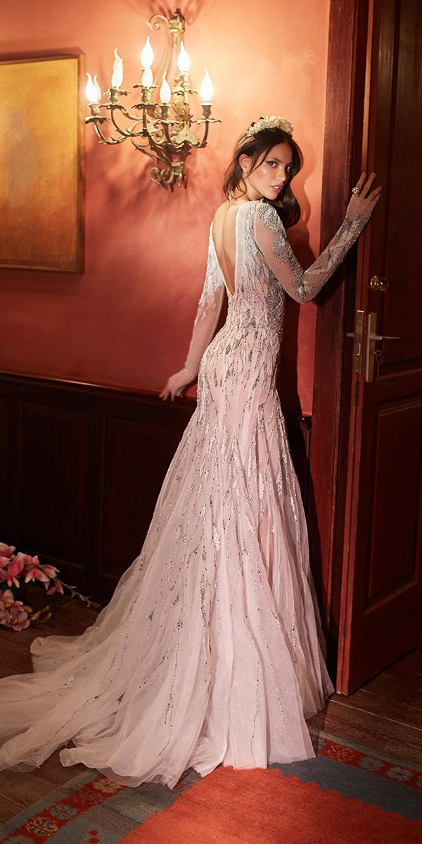 mermaid with long sleeves v back 2018 ivory galia lahav wedding dresses
