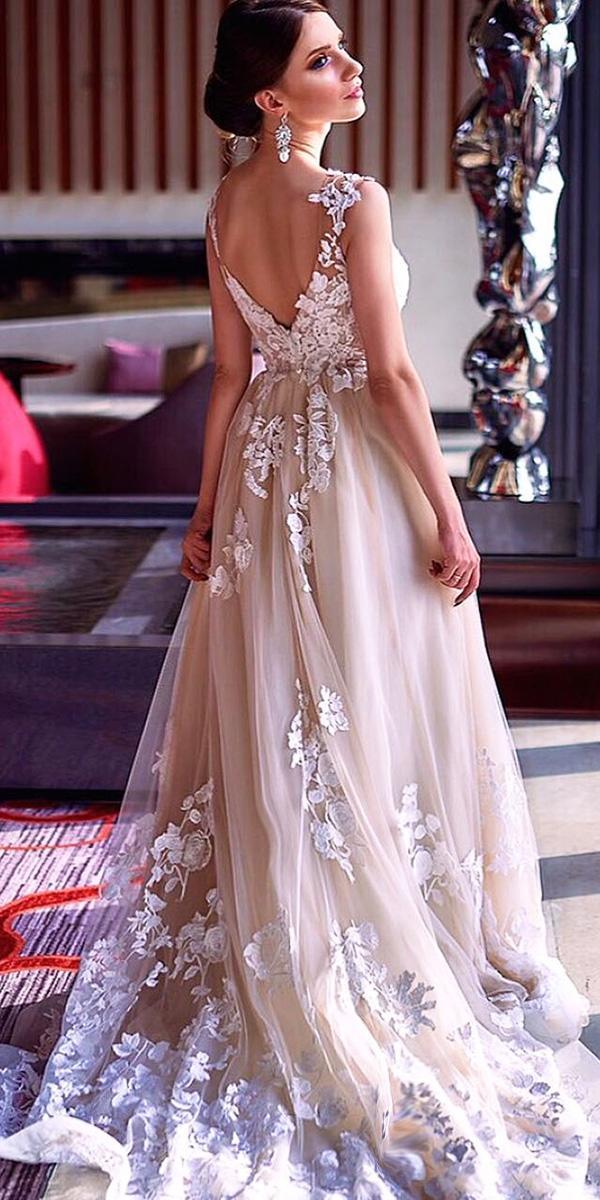milla nova wedding dresses a line v back lace blush real bride