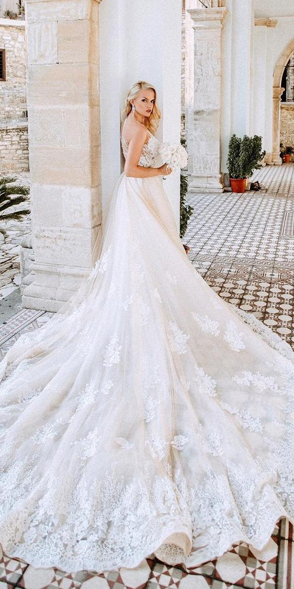 milla nova wedding dresses ball gown lace with train real bride