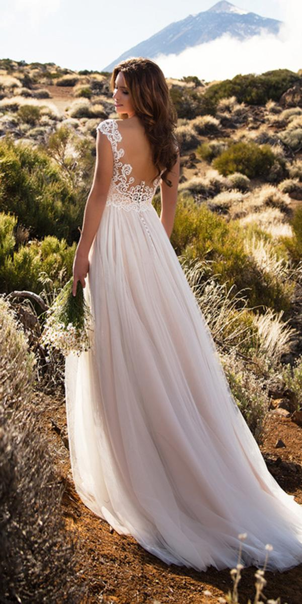 nora naviano wedding dresses a line illusion back with cap sleeves elegant
