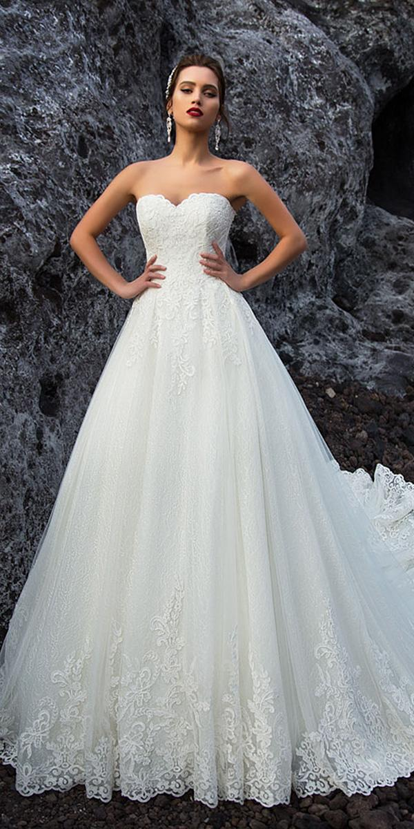 nora naviano wedding dresses a line strapless lace elegant