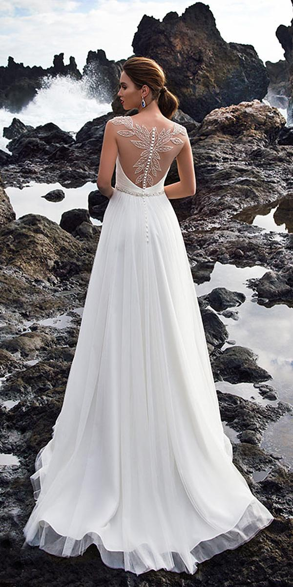 nora naviano wedding dresses a line tattoo effect back with buttons
