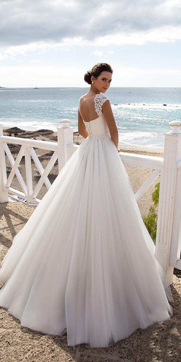 nora naviano wedding dresses a line with cap sleeves elegant 2018