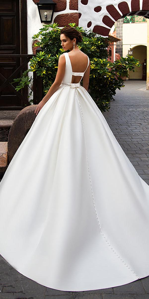 nora naviaano wedding dresses ball gown low back simple 2018