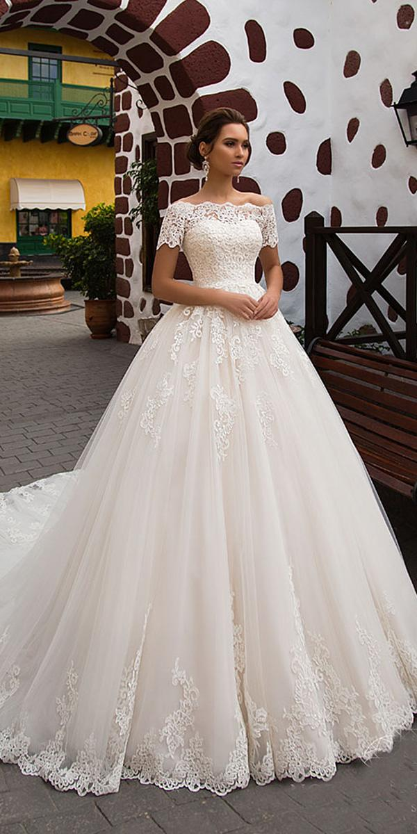 nora naviano wedding dresses ball gown off the shoulder full lace 2018