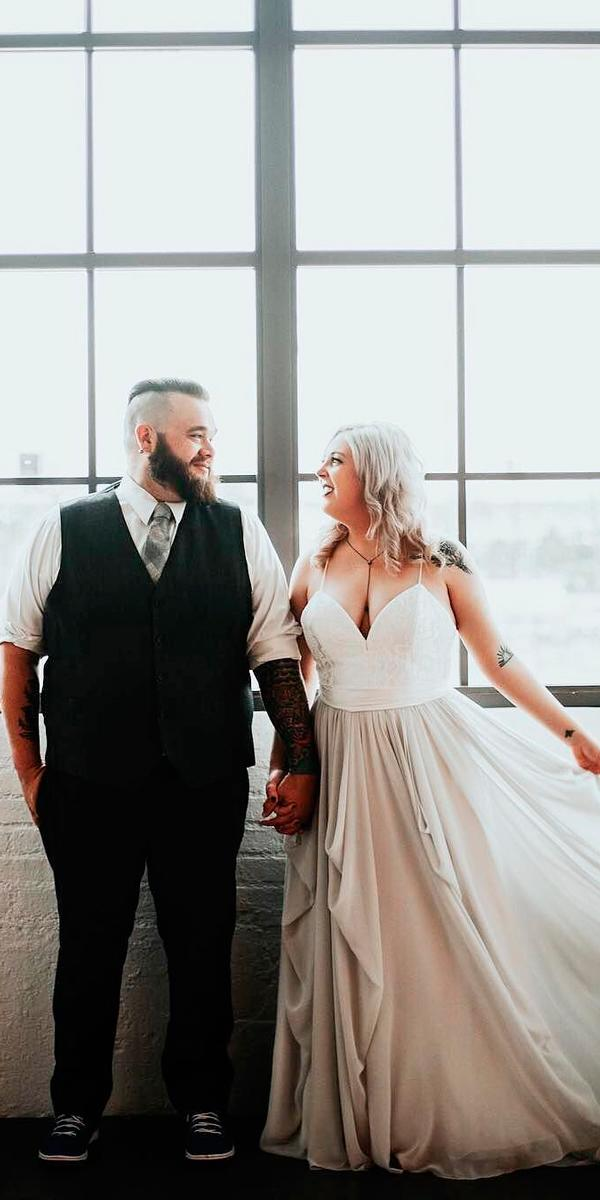 plus size simple wedding dresses spaghetti straps sweetheart neckline dani g photography