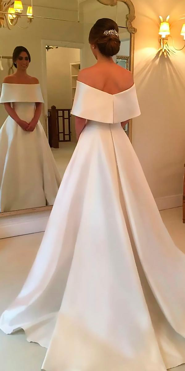 simple wedding dresses a line off the shoulder with train wanda borges
