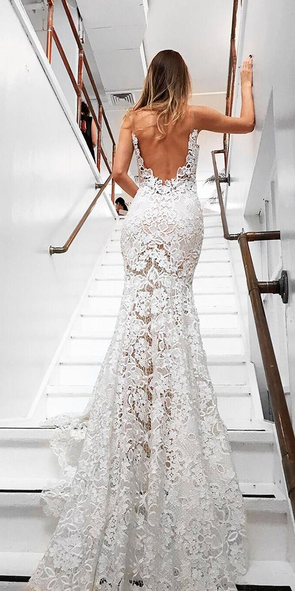 simple wedding dresses low back lace trumpet strapless with train goddess by nature