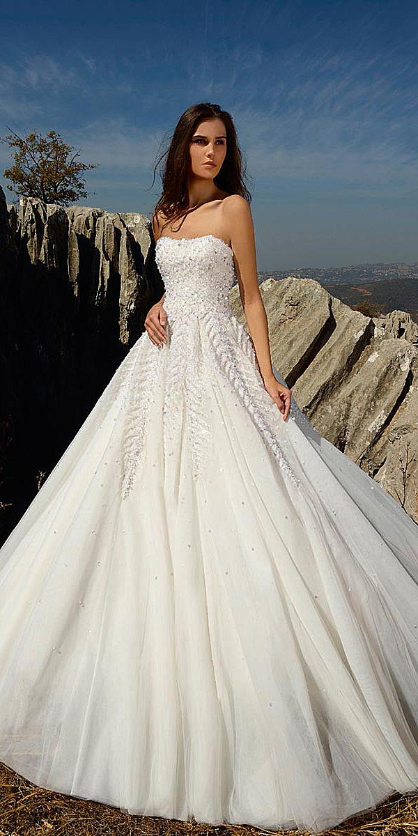tony ward wedding dresses ball gown strapless with beaded top