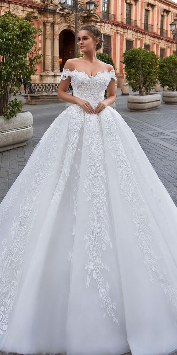 top wedding dresses ball gown off the shoulder sweetheart lace giovanna alessandro