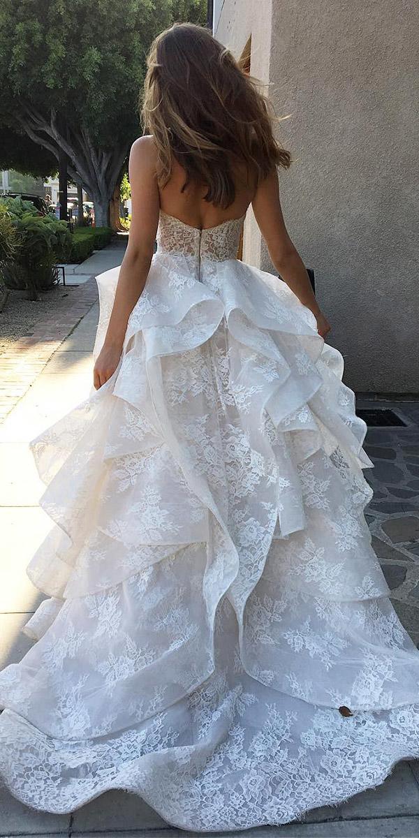 top wedding dresses ball gown lace v back monique lhuillier