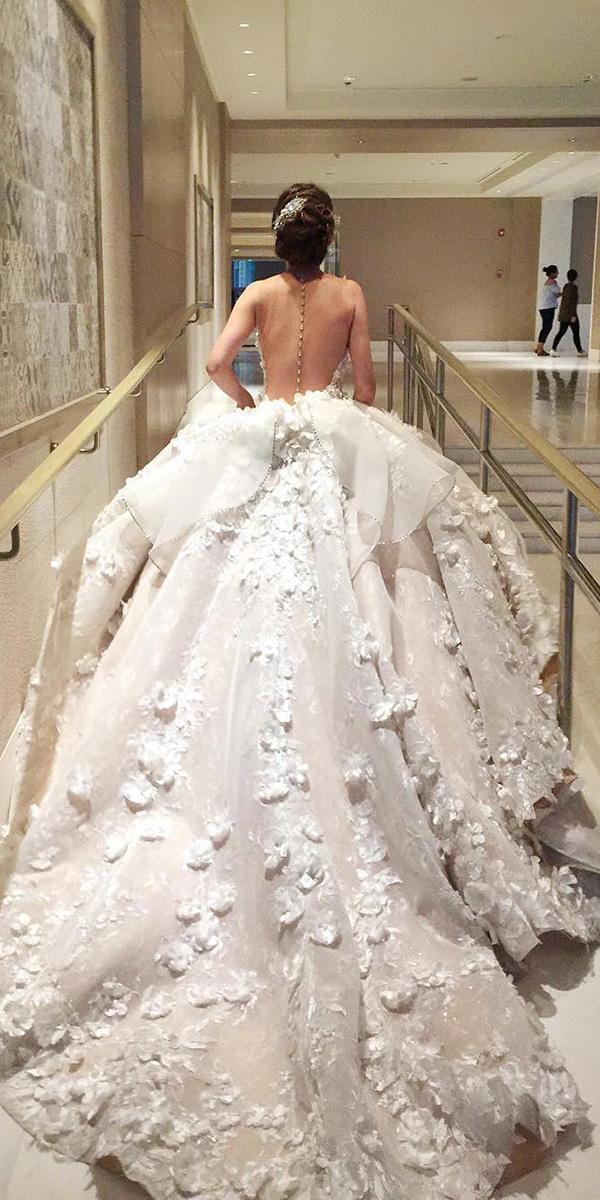 top wedding dresses bal gown luxury floral appliques mak tumang
