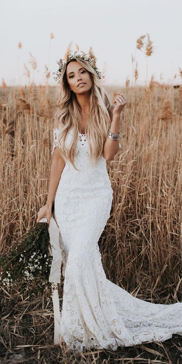 top wedding dresses boho off the shoulder lace country lovers xsociety