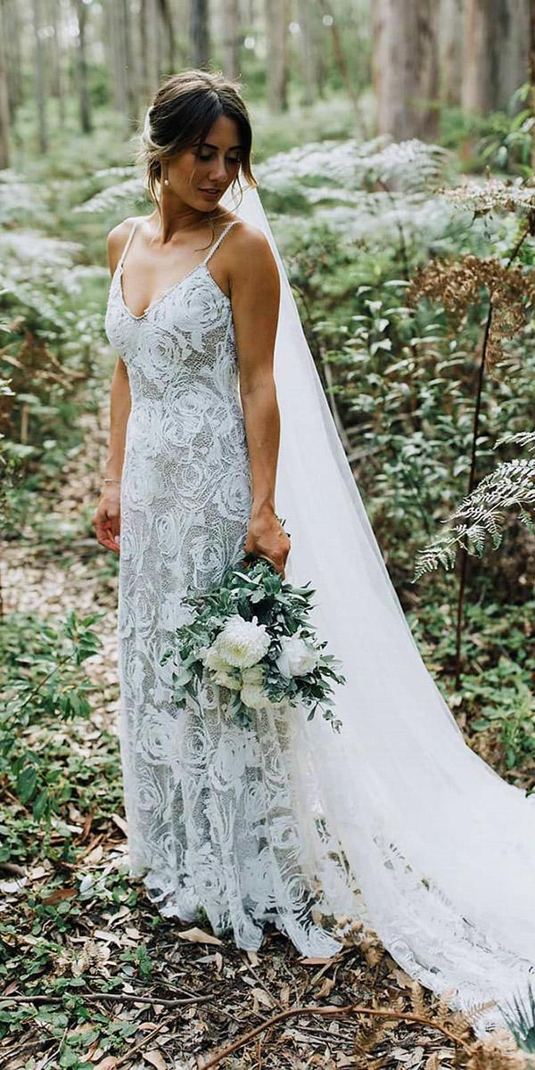 top wedding dresses boho sheath with spaghetti straps grace loves lace