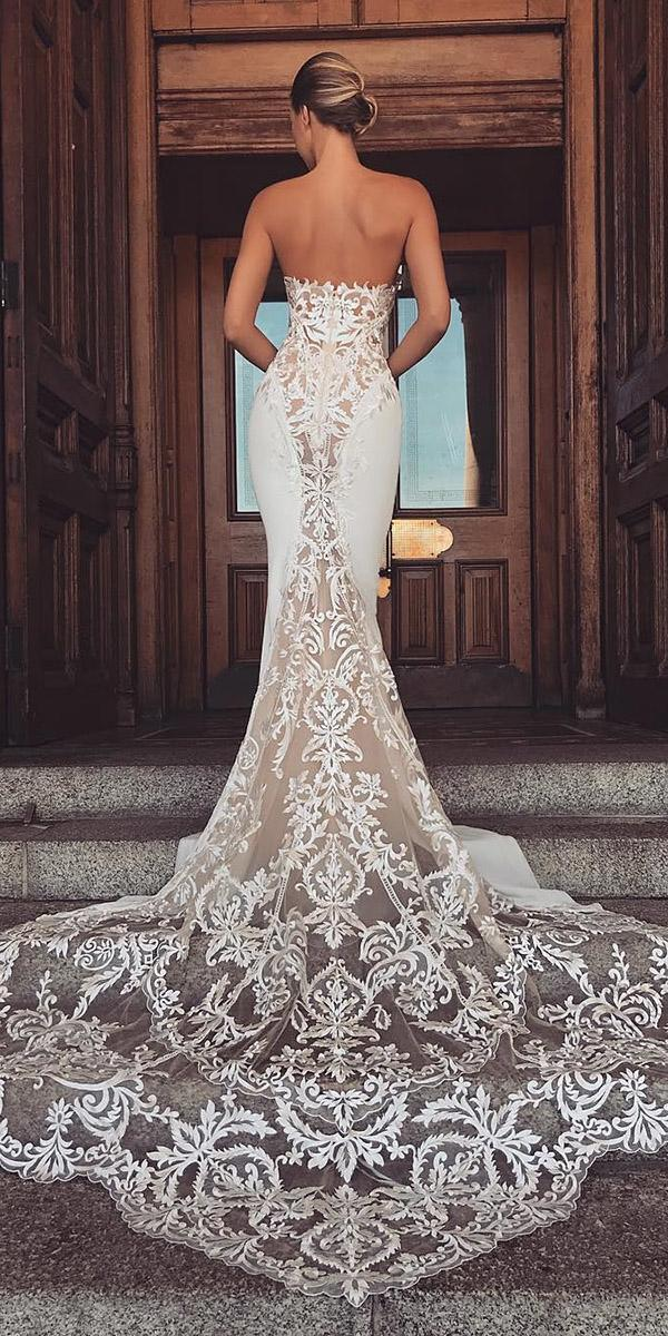 top wedding dresses sexy mermaid lace low back enzoani
