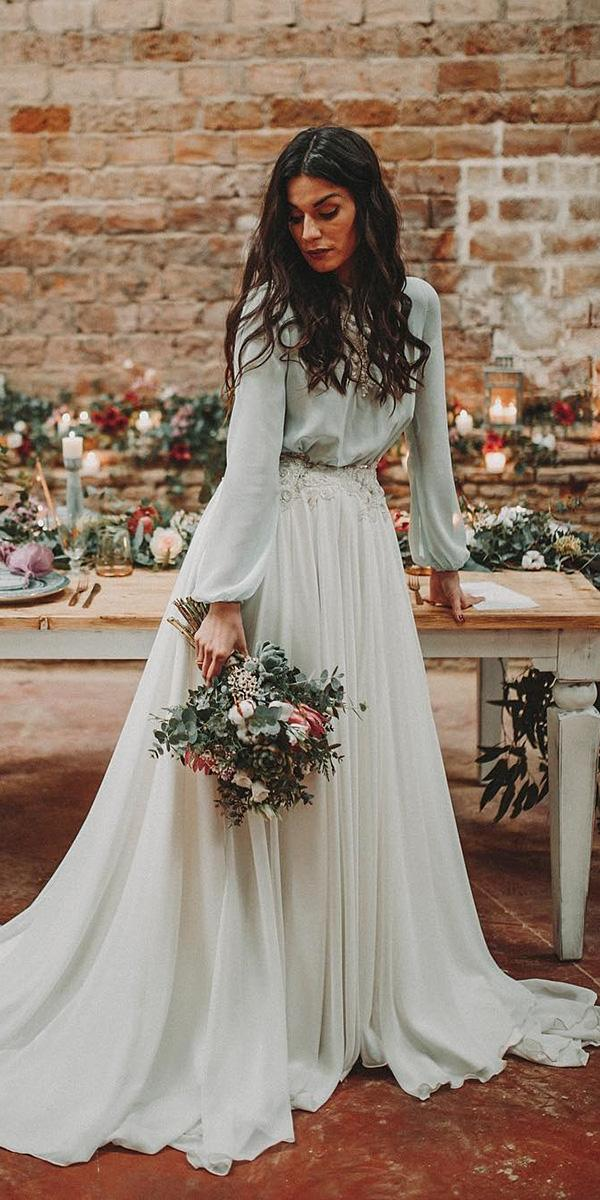 top wedding dresses simple with long sleeves elegant ivan campaña