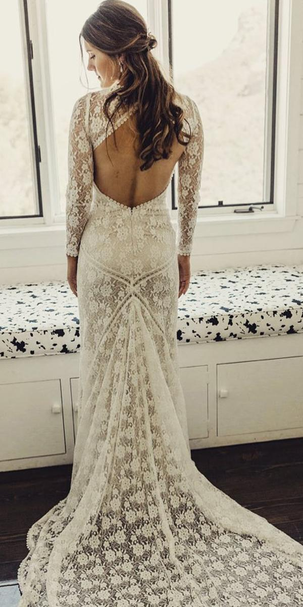 top wedding dresses with long sleeves open back boho beach dreamers and lovers