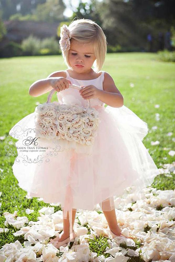 tutu flower girl dresses simple country tulle skirt