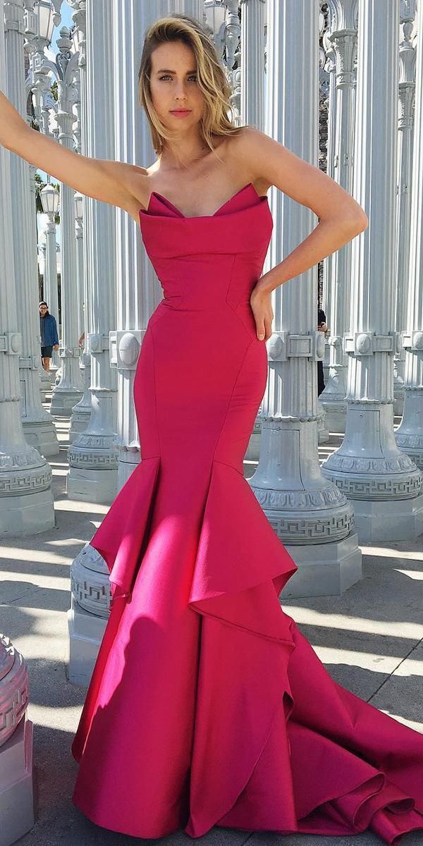 wedding guest designer dresses mermaid corset sexy monique lhuillier