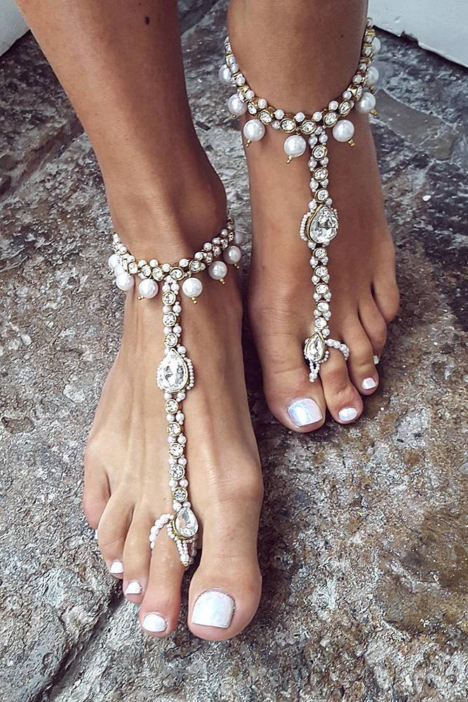 beach wedding shoes boho barefoot sparkle be nelipots