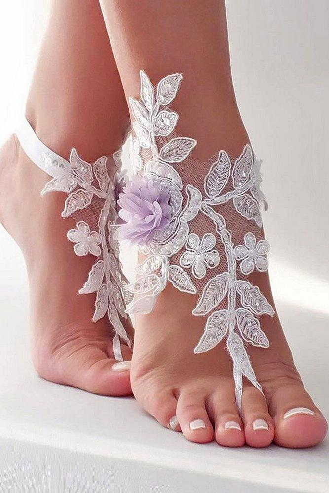 beach wedding shoes by lace floral miracle bridal