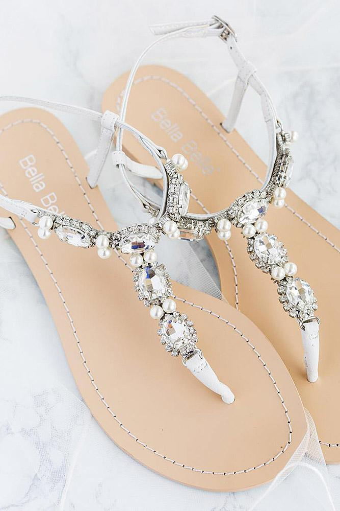 beach wedding shoes sandals with stones for guest bella belle shoes